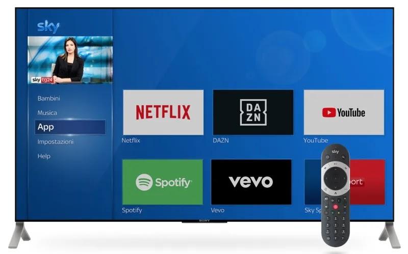 netflix su tv con sky q sezione app