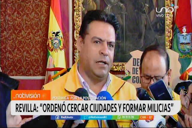 Revilla: Alguien que manda a cercar ciudades y a formar milicias armadas no merece un Premio Nobel de La Paz