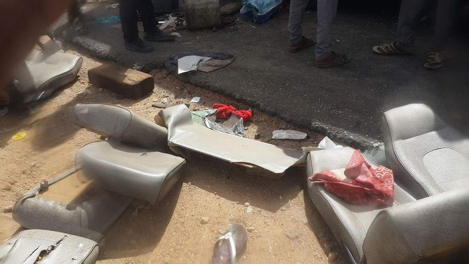 بالصور : حادث مروري بالقرب من القطينة وعدد غير محصور من الموتى والجرحى