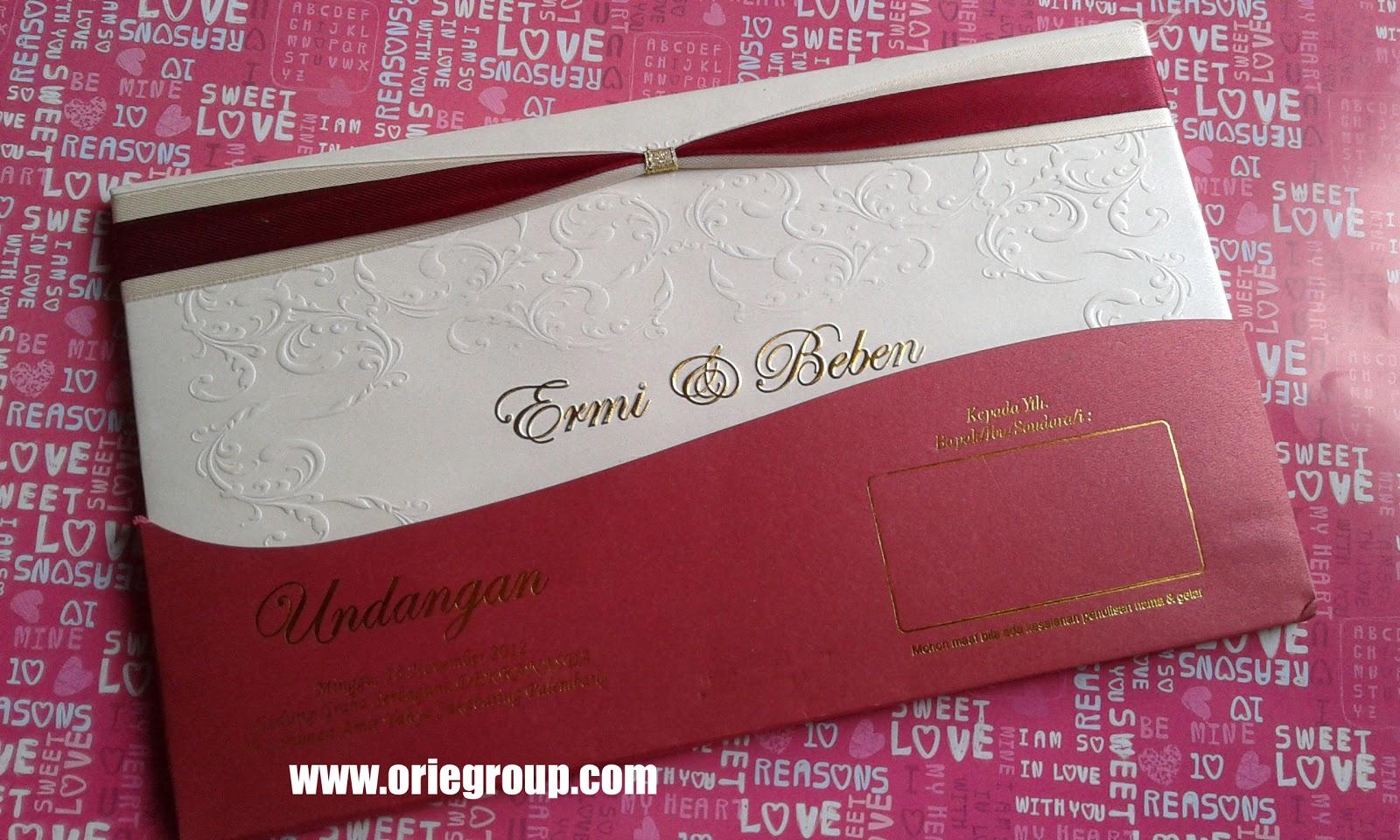 Percetakan Orie Kartu Undangan Wedding Card Palembang