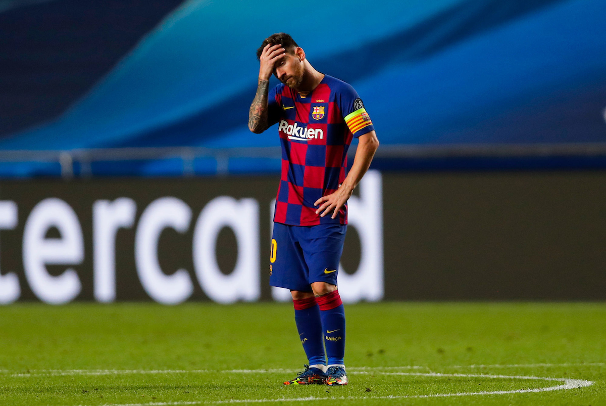 Lionel Messi disappointed in Barcelona's UEFA Champions League defeat