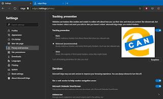 كيفية تمكين ميزة منع التتبع في Chromium Microsoft Edge