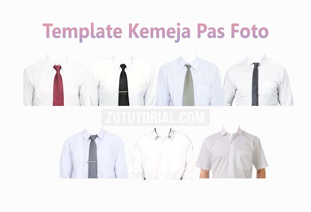 Template Kemeja Putih Pria Untuk Pas Foto (PNG & PSD) Edit Photoshop