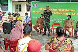 TNI Bersama BKKBN Keerom Gelar Pelayanan KB Kesehatan di Wilayah Perbatasan