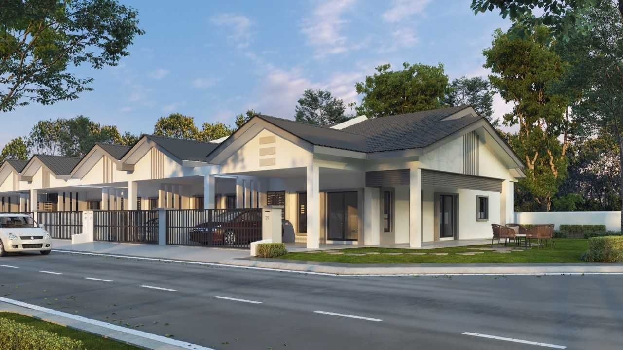 NEW SINGLE STOREY HOUSE, TAMAN BEMBAN INDAH, BT. GAJAH