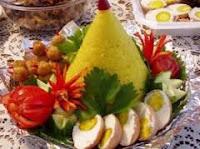 Resep-Cara-Membuat-Nasi-Tumpeng-Bumbu-Kuning-Komplit