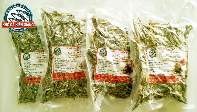 Sản phẩm Khô Cá cơm Phú Quốc được hút chân không tại Khô Cá Kiên Giang