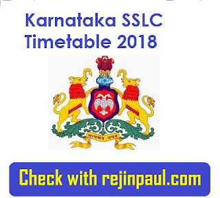 Karnataka SSLC Time Table 2018