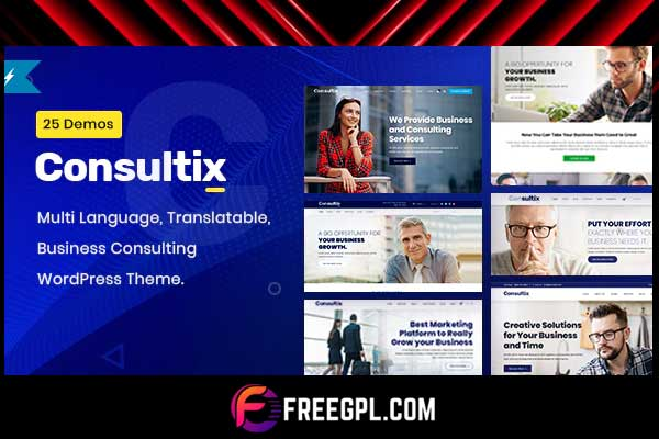 Consultix - Business Consulting WordPress Theme Download