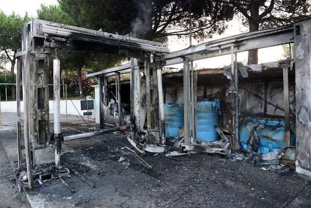 Torremaggiore, autolavaggio distrutto dalle fiamme