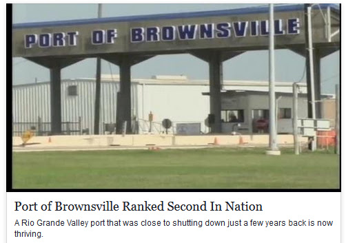 Port of Brownsville ranked 2nd in the nation.