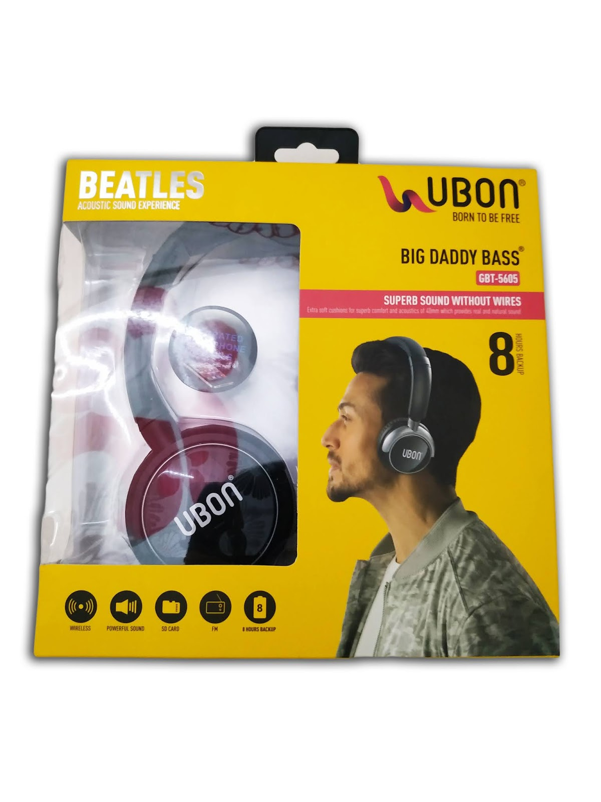 Ubon Beatles Gbt 5605 Bluetooth Wireless Headphones Black Febborn India S Favorite Online Shopping Mall