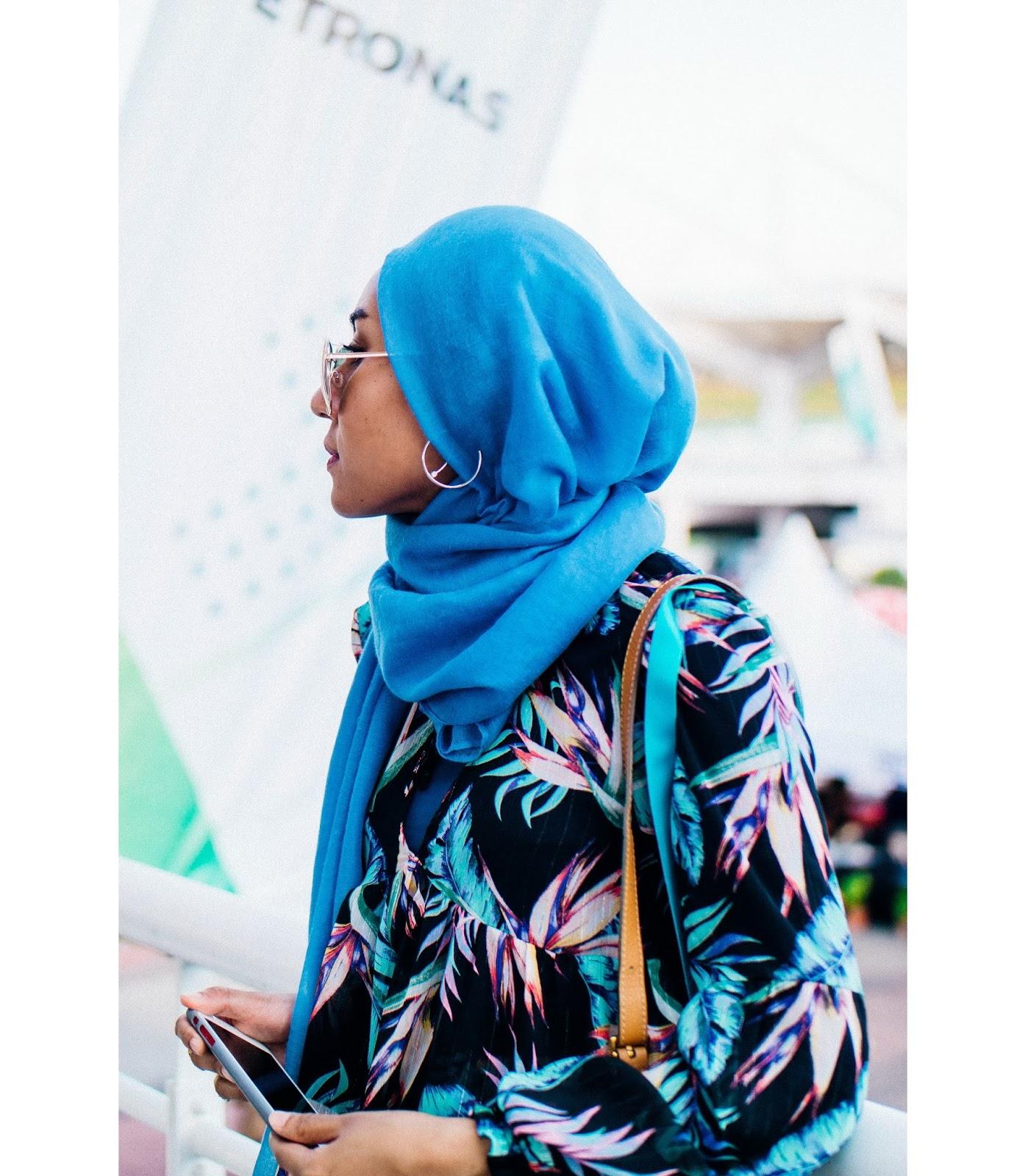 Wearing hijab with hoop earrings