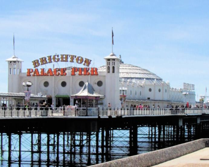 brighton palace pier in brighton, uk