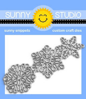 Sunny Studio Stamps: Lacy Snowflake Set of 3 Winter Metal Cutting Dies