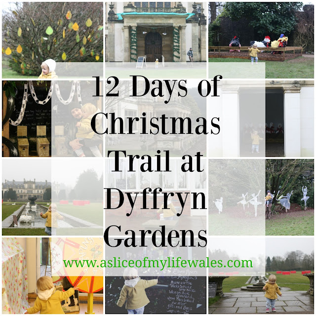 12 days of Christmas Trail at Dyffryn Gardens - a family Christmas activity at a national trust property in the vale of glamorgan, South Wales - a review