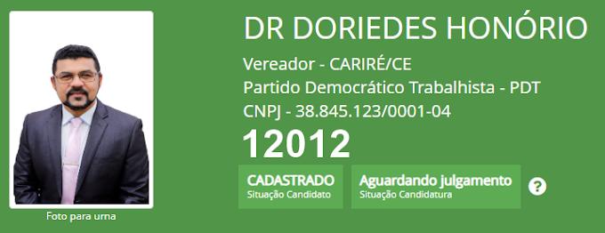 Conheça os candidatos a Vereador do PDT de Cariré e já cadastrados no TSE