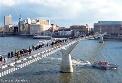 Jembatan Millenium Bridge milenium modern London
