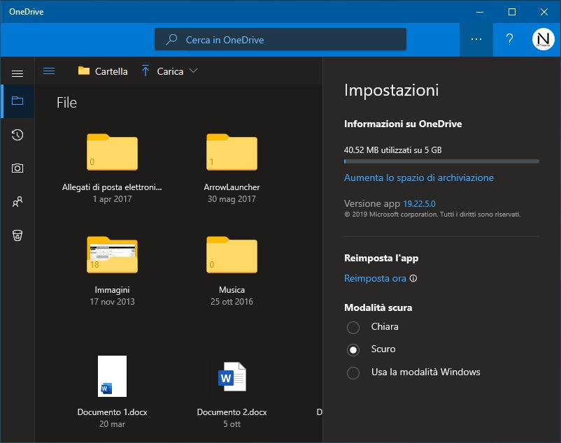 OneDrive-tema