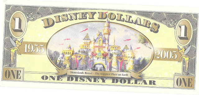 Sleeping Beauty Castle Disney Dollar Disneyland 50th Anniversary