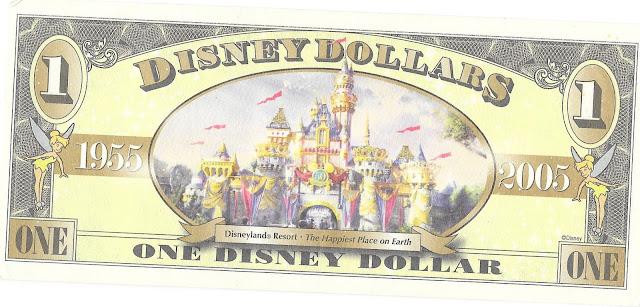 Disneyland 50th Anniversary Disney Dollar