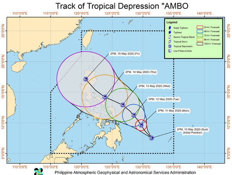'Bagyong Ambo' PAGASA weather update May 10, 2020