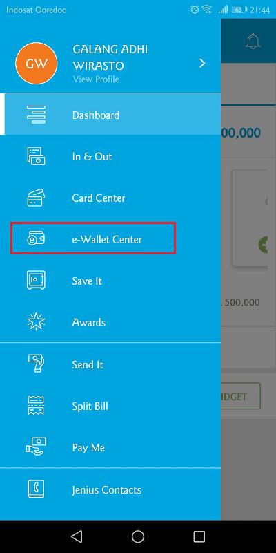 jenius memiliki fitur e-wallet untuk mengisi saldo gopay