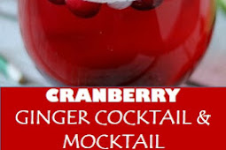 #recipe #food #drink #delicious #family #Cranberry #Ginger #Cocktail & #Mocktail