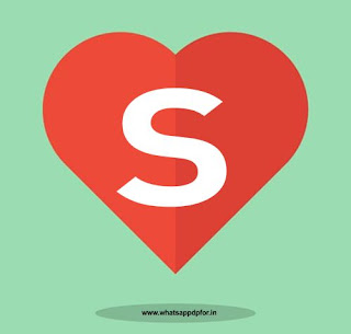 s letter images in heart