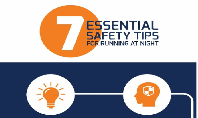 7 Essential Safety Tips For Running At Night #infographic