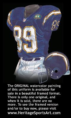 San Diego Chargers 2000 uniform