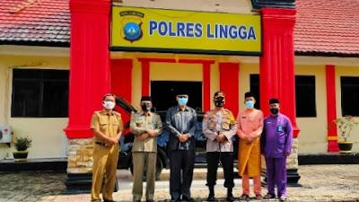 Pjs Bupati Lingga Juramadi Esram, Silaturrahmi Dengan Kapolres di Mapolres Lingga