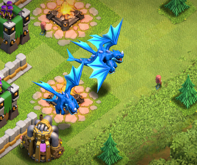 Electro Dragons Tropps terbaru Clash Of Clans COC