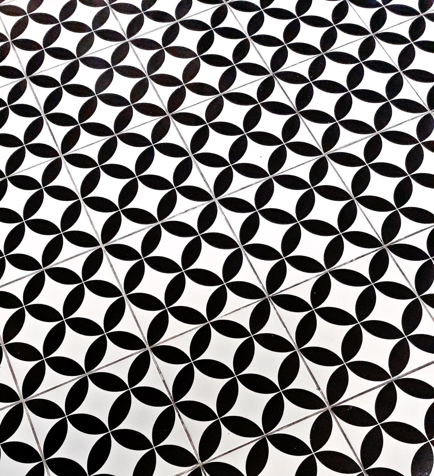 Patterned Floor Tiles, Design, Texture