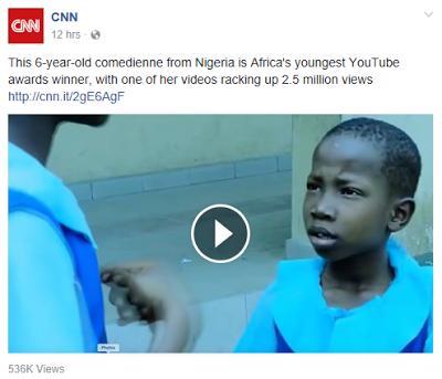 Nigeria's 6 year old comedienne Emmauella Samuel gets featured on CNN!