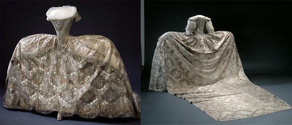 vestido de corte século xviii