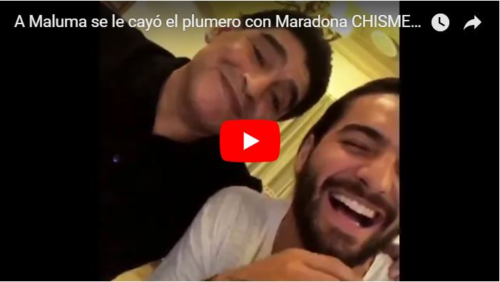 A Maluma se le cayó el plumero con Maradona