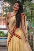 aditi menon new sizzling half saree stills-thumbnail-6