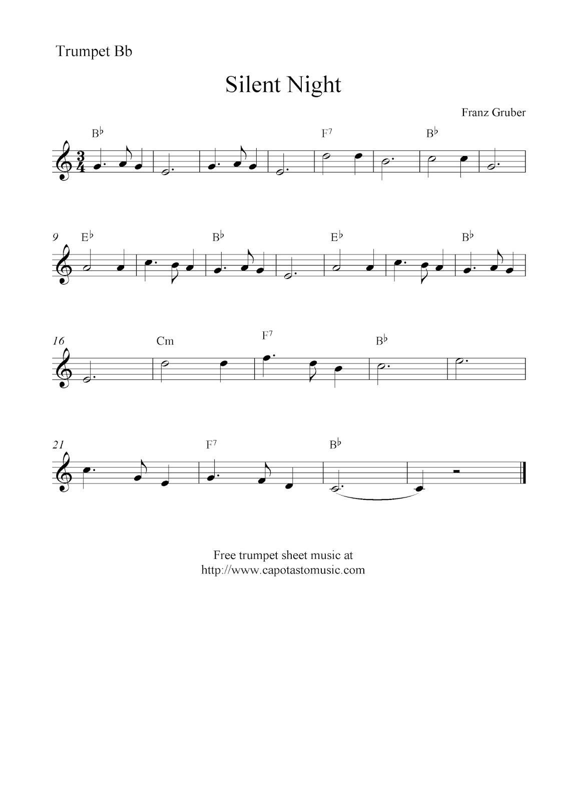 Trumpet Sheet Music Christmas Free