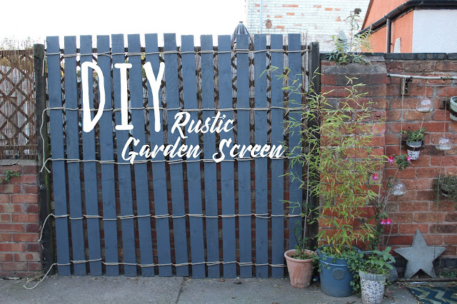 how to make a garden screen