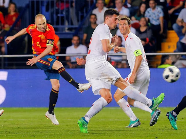 Laga Persahabatan: Spanyol Diimbangi Swiss 1-1