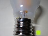 innen: LED-Filament-Lampe RETROFIT CLASSIC (ersetzt 60 Watt) E27 warmweiß, Lebensdauer 30 Jahre! 6 Watt, 550 Lumen, 2 Glühfaden, MATT [Energieklasse A++]