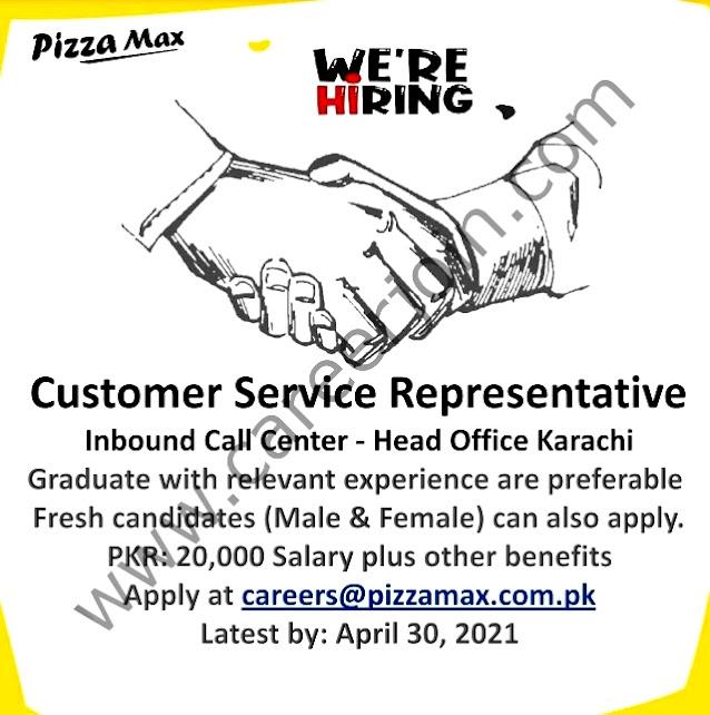 Latest Jobs in Pizza Max Pakistan  April 2021