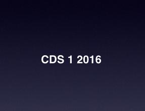 CDS 1 2016