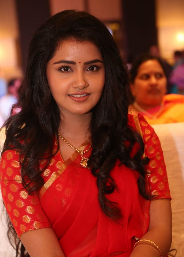 Tollywood Actress Anupama Stills In Red Saree
