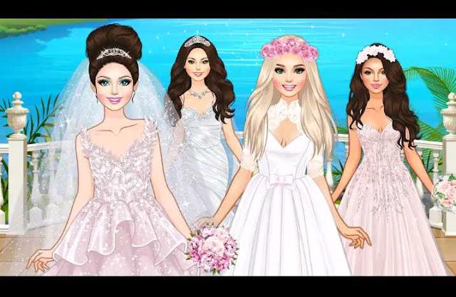 لعبة تلبيس الجميلات للزفاف العاب بنات
