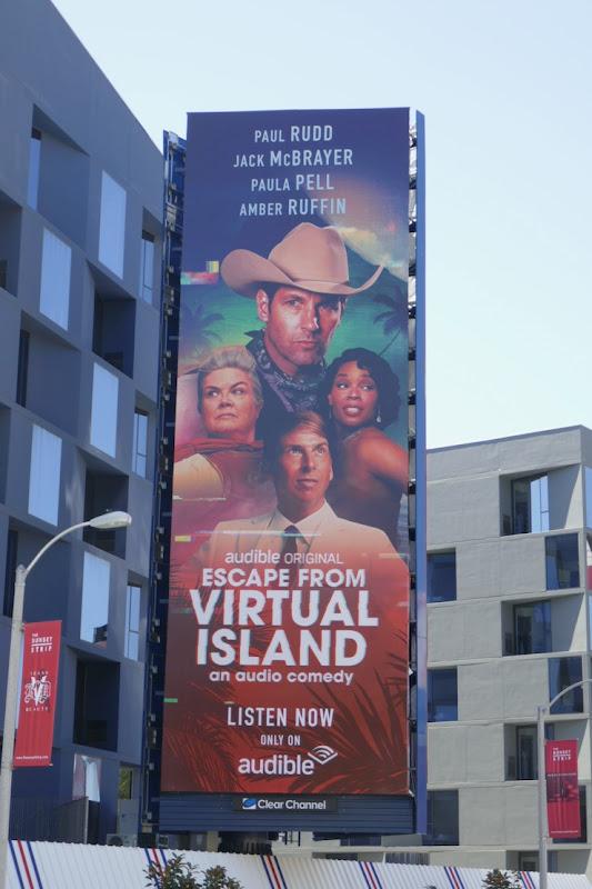 Escape from Virtual Island Audible billboard