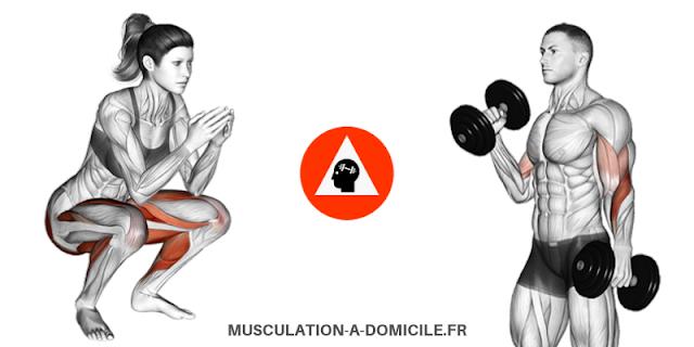 musculation-a-domicile.fr_methode-fitness-poids-du-corps-haltere-squat-femme-curl-biceps-marteau-homme