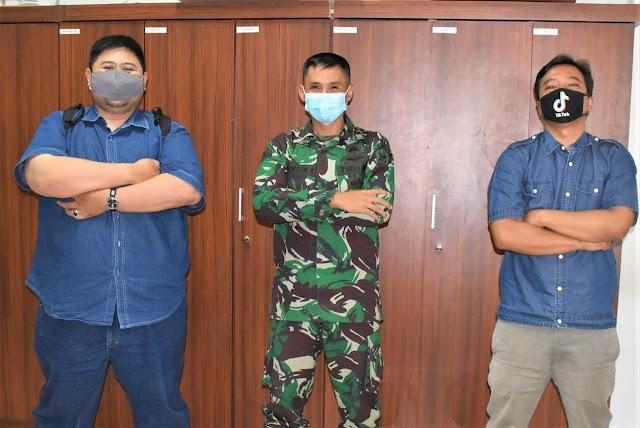 Soliditas TNI - Jurnalis , JBN Silahturahmi Bersama Kapen Kodiklatad