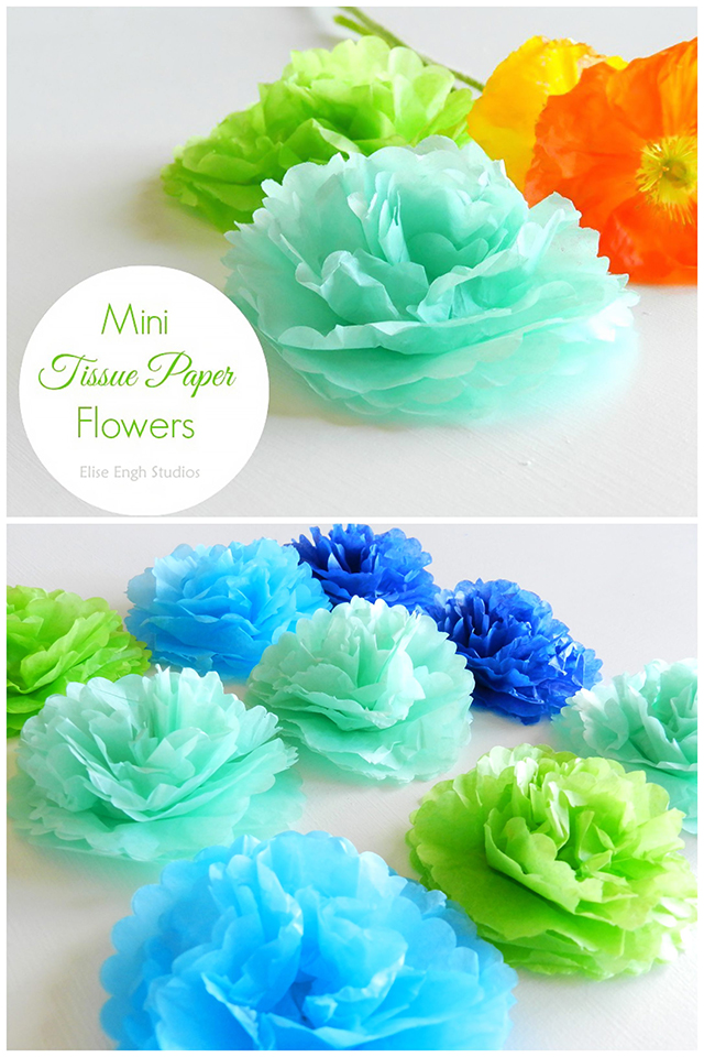 How to Make Mini Tissue Paper Flowers